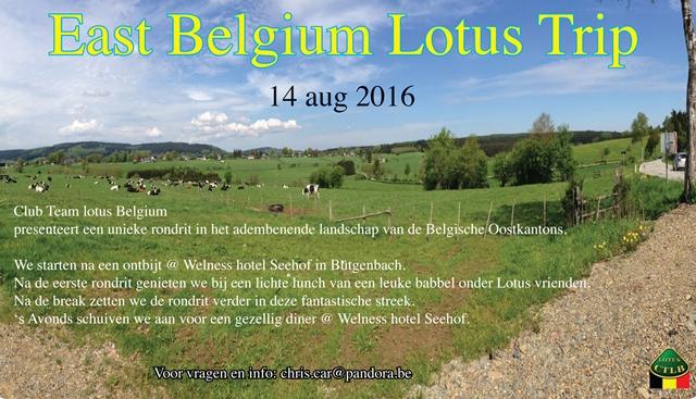 East belgium lotus trip nl 1