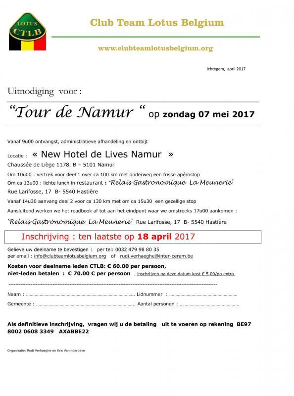 Uitnodiging tour de namur 2017 2