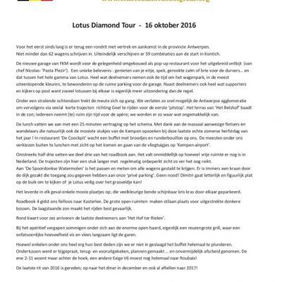 Verslag Lotus Diamond Tour