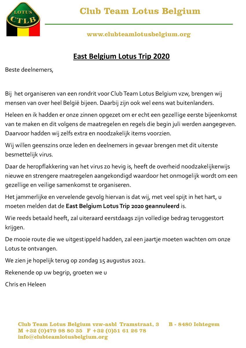 Annulatie east belgium