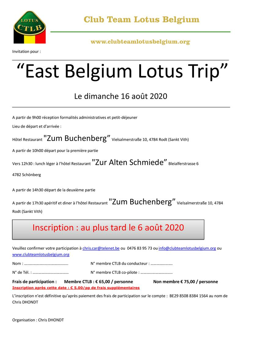 Invitation east belgium lotus trip 1