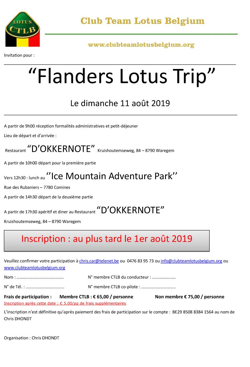 Invitation flanders trip 2