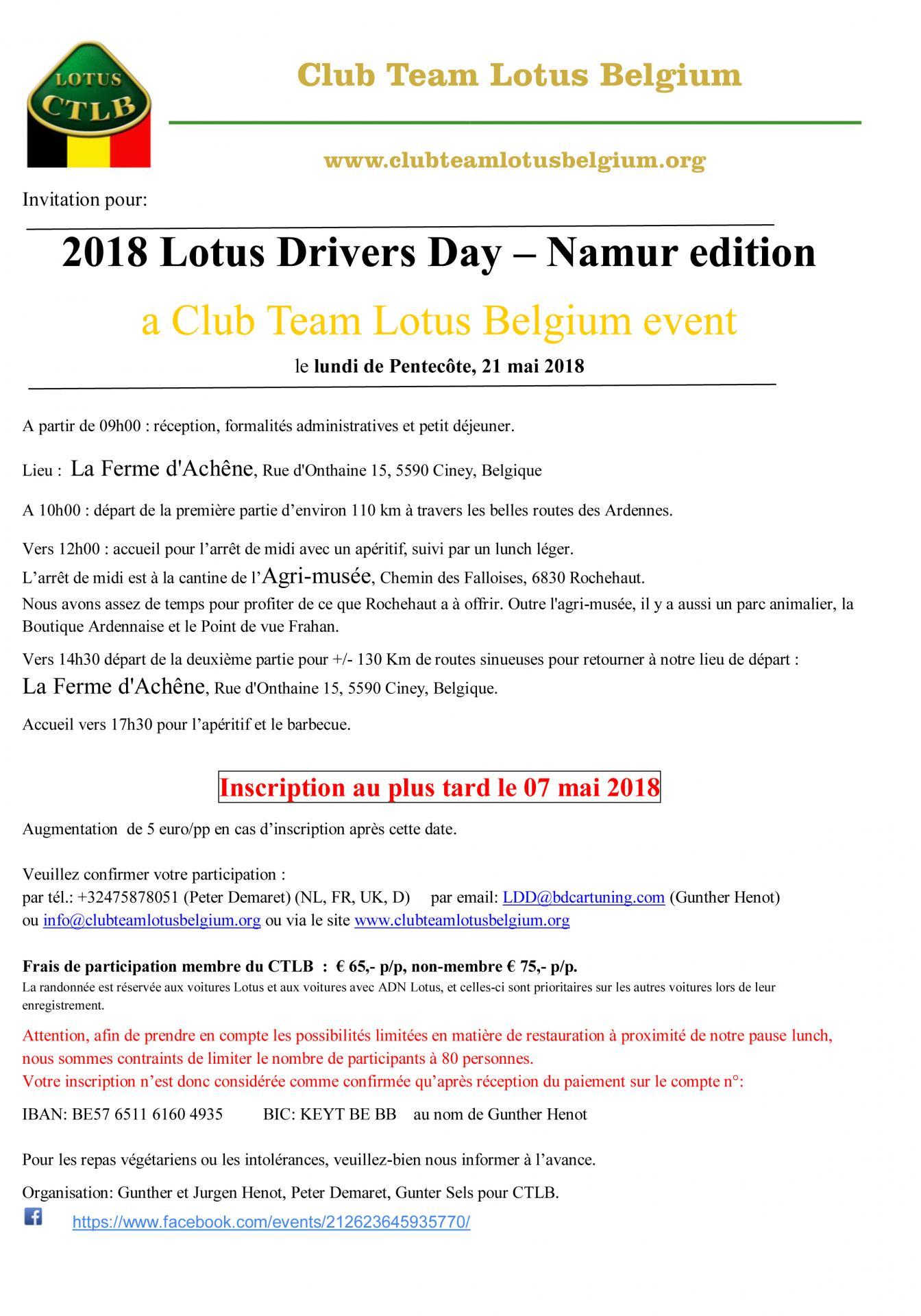 Invitation lotus drivers day