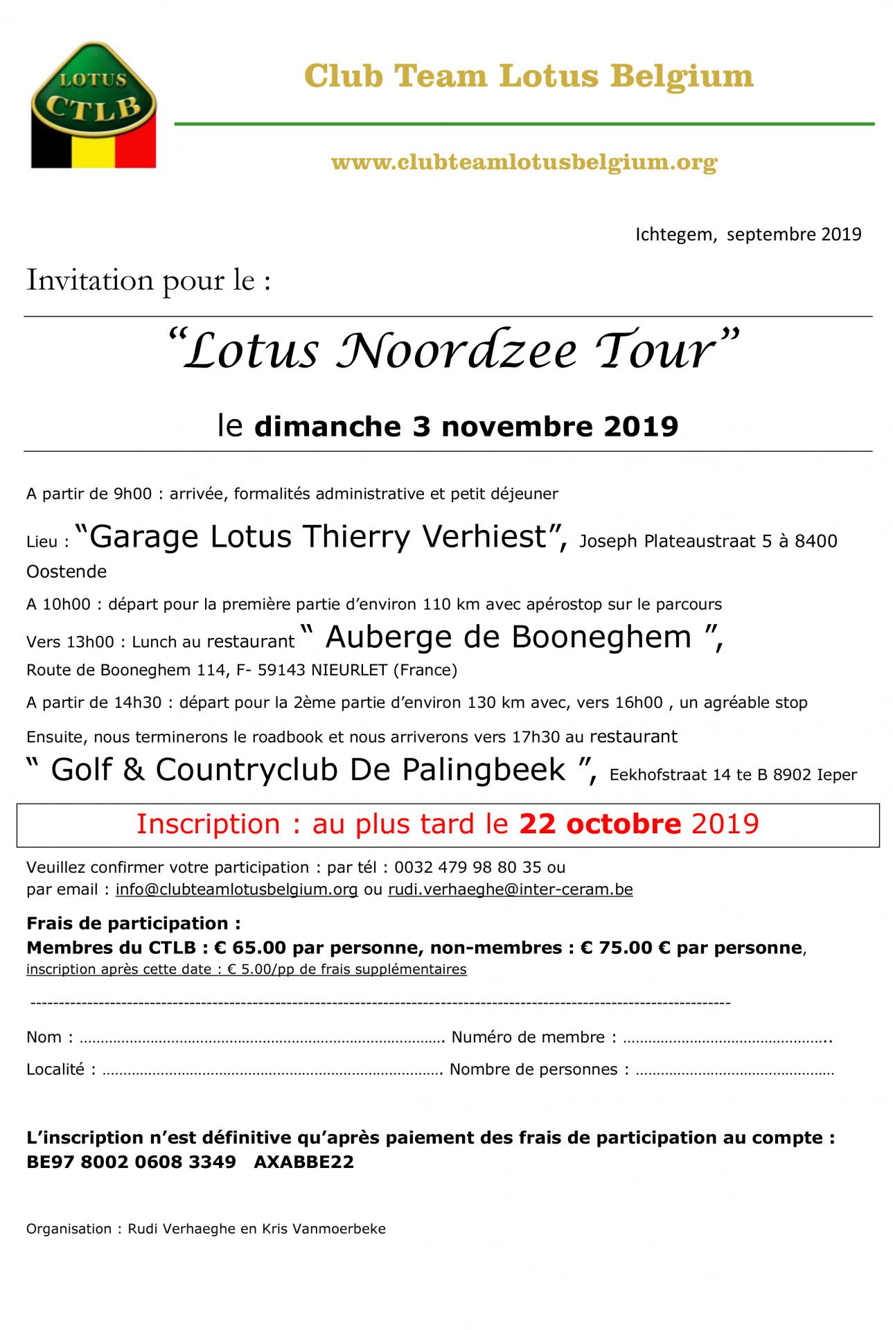 Invitation lotus noordzee tour 1