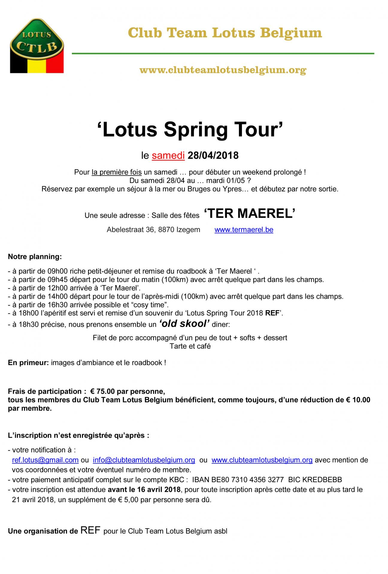 Lotus spring tour 2018 invitation