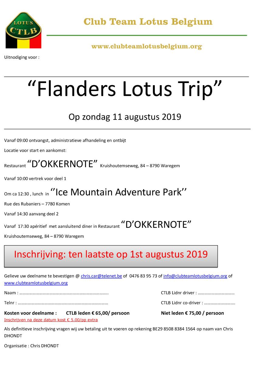 Uitnodiging flanders trip 1
