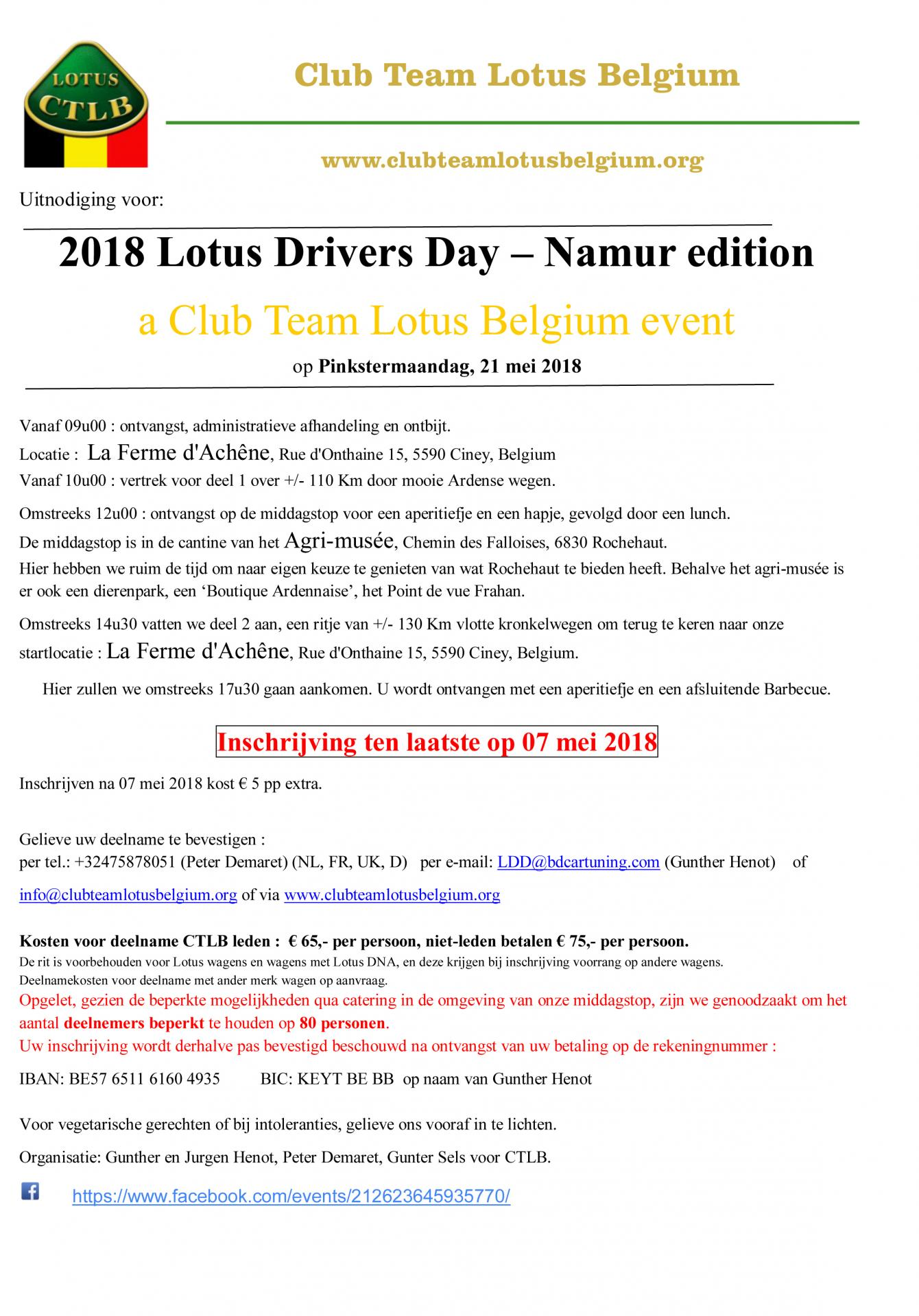 Uitnodiging lotus drivers day