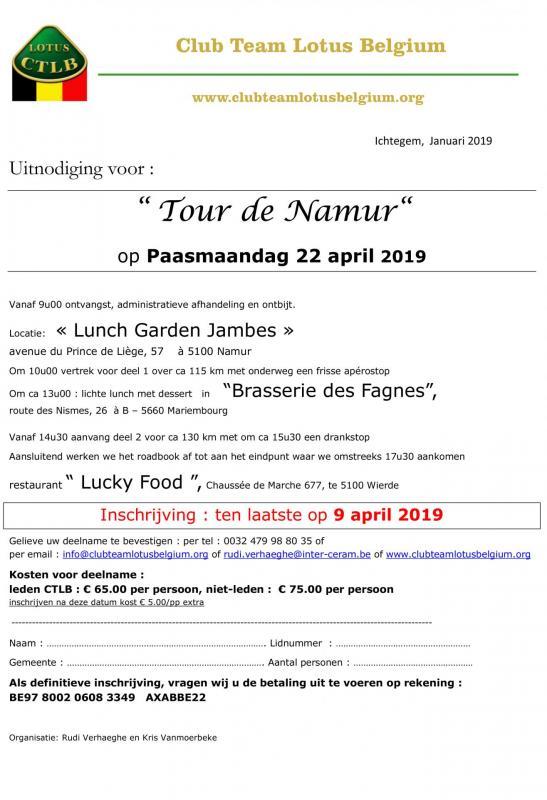 Uitnodiging tour de namur 1