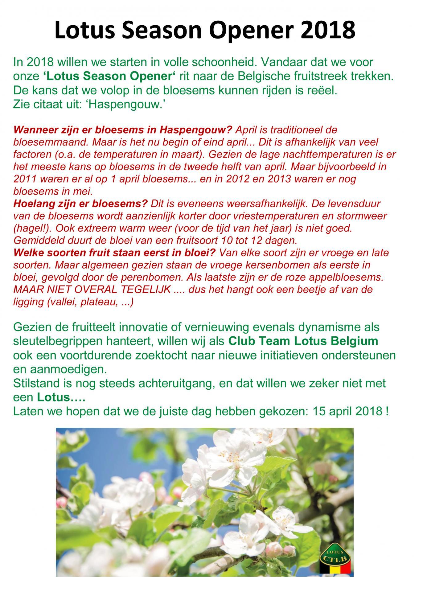 Voorstelling lotus season opener 2018